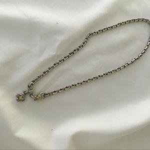 Judith Ripka Sterling Silver & Diamond necklace